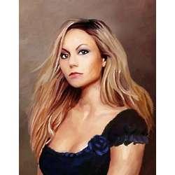 Mariah Carey Oil Painting Fine Art Print