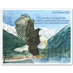 Bald Eagle Personalized Art Print