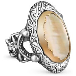 Canyon Road Mixed Metal Gold Mother of Pearl Ring