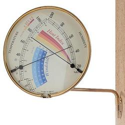 Brass Heat Index and Wind Chill Gauge