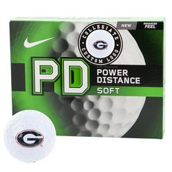 Georgia Bulldogs Power Distance Soft Collegiate Golf Balls