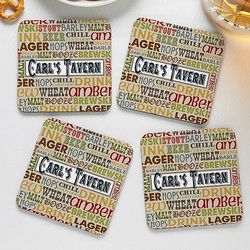 Personalized Alehouse Coaster Set