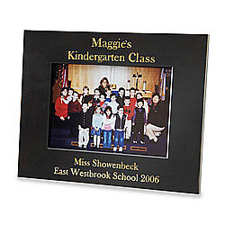 Personalized Ebony School 5 x 7 Horizontal Frame