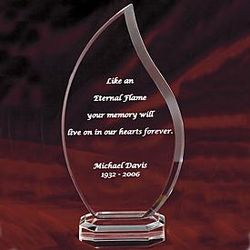 Eternal Flame Personalized Keepsake Plaque