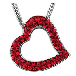 Swarovski Crystal Truth Heart Pendant