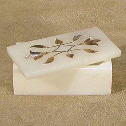 White Soapstone Keepsake Box