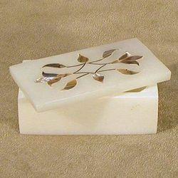 White Soapstone Keepsake Box