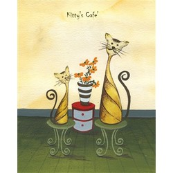 Kitty's Café Fine Art Print