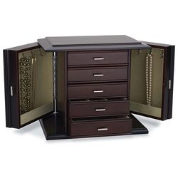 Diva Dark Mahogany Jewelry Box