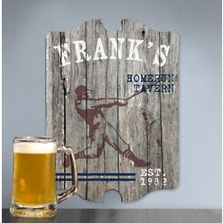 Personalized Homerun Man Cave Vintage Pub Sign