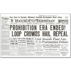 Prohibition Era Ends Historic Newspaper Replica