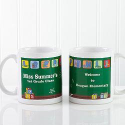 Little Learners Personalized Teacher Coffee Mug