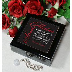 Personalized Soul Mates Trinket Box