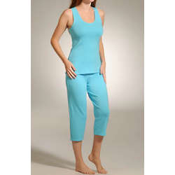 Cabana Cotton Tank Capri PJ Set