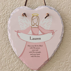 Personalized Angel Blessing Wall Plaque