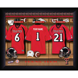 Personalized Texas Tech Locker Room Print