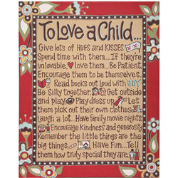 To Love a Child Canvas Wall Art