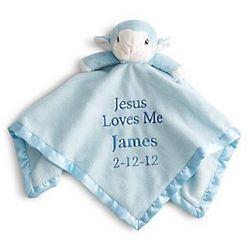 Personalized Jesus Loves Me Lamb Blankie