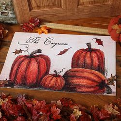 Autumn Pumpkin Patch Personalized Doormat