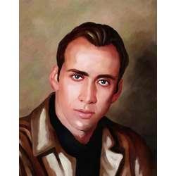 Nicolas Cage Oil Painting Fine Art Print
