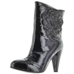 Black Metalic Fibre Boot