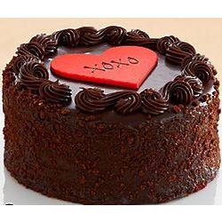 Three Layer Chocolate Valentine's Cake