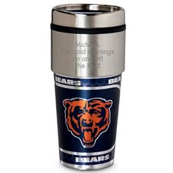 Chicago Bears Metallic Coffee Tumbler