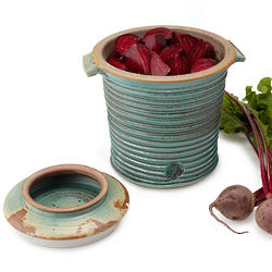 Hand Crafted Stoneware Fermenting Crock