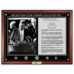 JFK Inaugural Address with 1961 US Mint Coins