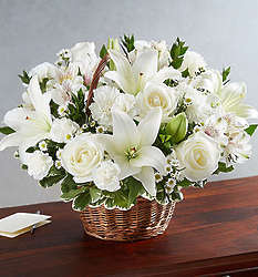 Peace, Prayers & Blessings All White Large Bouquet
