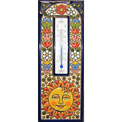 Handmade Spanish Thermometer Tile with Enamels