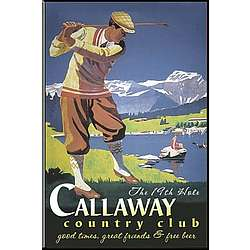 Personalized Vintage Golfer Guy Pub Sign