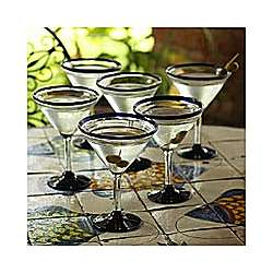 Cobalt Joy Martini Glasses