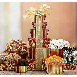 Chocolate Truffle, Praline and Candy Holiday Tower