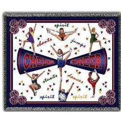 Competition Cheer Tapestry Throw