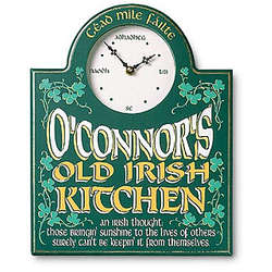 Personalized Old Irish Kitchen Clock