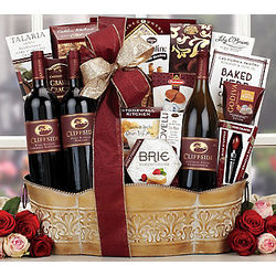 Cliffside California Wine Assortment Gift Basket