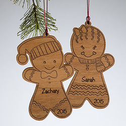 Personalized Gingerbread Cookie Christmas Ornament