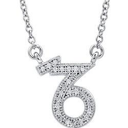 Sterling Silver Zodiac Capricorn Necklace