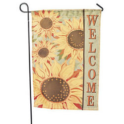 Mini Sunflower Garden Flag