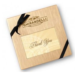 Ghirardelli Thank You Deluxe Gift Box with Squares Chocolates