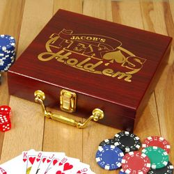 Texas Hold em Personalized Poker Set
