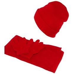 Kid's Stretch Hat, Gloves and Scarf Set