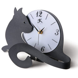 Cat Tail Clock