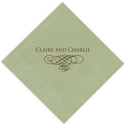 Wedding Flourish Personalized Napkins