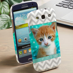 Picture Perfect Chevron Galaxy 3 Cell One Phone Hardcase