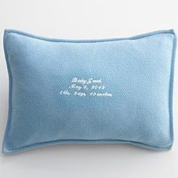 Blue Cashmere Pillow