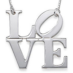 Iconic Love Necklace in Sterling Silver