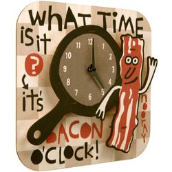 Bacon O'Clock Wall Clock