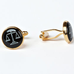 Gold Plated Legal Scales Cuff Links